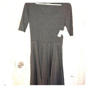 New with tags Lularoe nicole dark grey dress large